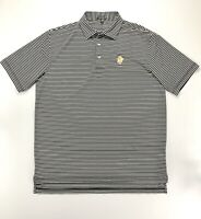 Peter Millar Summer Comfort Men's Large Polo Shirt Black White Stripe