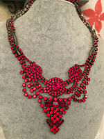 DANNIJO RED Vala Crystal Statement Necklace