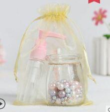 "50 Gold Sheer Organza Bags 2.75"" * 3.5""  Small Wedding Gift Drawstring Jewelry"