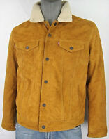 Levi's Suede Leather Sherpa Trucker Jacket with Lining  Levi Strauss & Co Levis