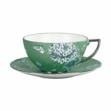 Wedgwood Jasper Conran Chinoiserie Green Teacup and Saucer (Pair)