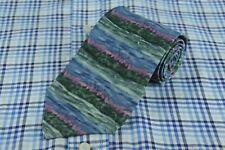 J. Garcia Men's Blue Purple & Green Butterfly II Silk Necktie 57 x 3.75 in.