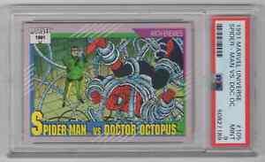 1991 Marvel Universe #105 Spider-Man vs. Doctor Octopus - PSA 9 MINT