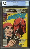 Daredevil Comic #179 (1982) CGC 7.0 White Pages