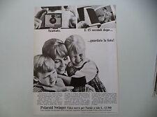 advertising Pubblicità 1967 POLAROID SWINGER