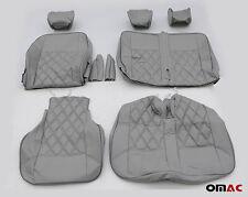 DIMOND Schonbezüge Kunstleder Sitzbezug Sitzbezüge Grau Blau VW T5 T6 2+1