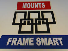 50 x BLACK PICTURE/PHOTO MOUNTS 7x5 for 5x3