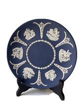 WEDGWOOD Assiette en Biscuit de Porcelaine Décor Scènes à l'Antique Personnages