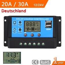 Digital LCD Solar Regler USB Laderegler Controller Regulator 12V-24V 20A/30A BE