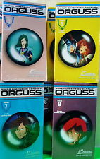 4 ORGUSS VHS TAPES VOLUMES 5-8   MINT NEVER OPENED US RENDITIONS ANIME