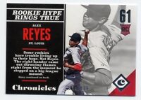 2017 Panini Chronicles ALEX REYES Rookie Card RC SILVER #/499 St Louis Cardinals