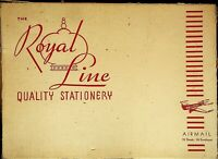 Royal Line Quality Stationery in Box 1940s