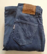 LEVI'S JEANS BIG E VINTAGE FLARED CORD WHITE TAB TALON 42 ZIP MADE IN GT BRITAIN