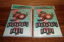 #16 ct Retro 1950's Theme Party Invitations * The 50's Rock & Roll Party *   New