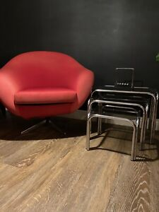 Mid Century Vintage Swivel Overman Pod Chair By Carl Eric Klote