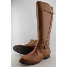Kniehohe Stiefel für Damen in Größe 42 mit kleinem Absatz (kleiner als 3 cm)