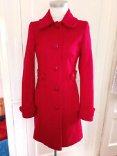 Topshop Red Wool Blend Coat Sze 8