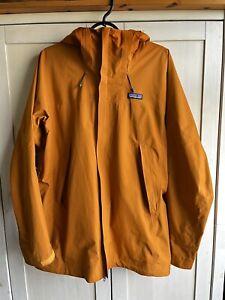 Patagonia Departer Snow Ski Snowboard Gore-Tex 2L Jacket Mens M Orange