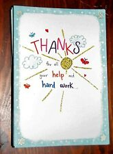 "Blue Mountain Arts Greeting Card ""Thanks for Your Help & Hard Work "" B2GO SALE"