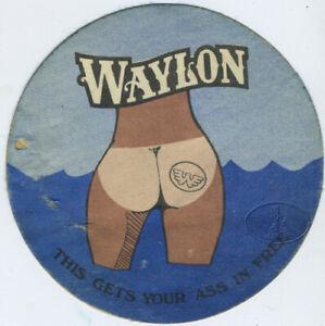 Original WAYLON JENNINGS 1970s Backstage Pass from Hell's Angel bodyguard