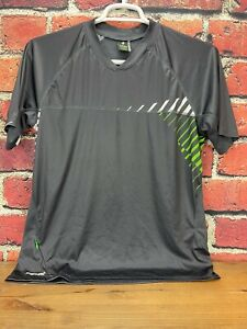 Specialized Short Sleeve Shirt Men's MTB Jersey Medium Gray/White/Green Relaxed