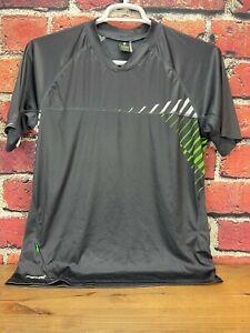 Specialized Short Sleeve Shirt Men's MTB Jersey Medium Gray/White/Green Relaxed