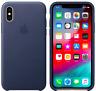 Mitternachtsblau iPhone X 5,8'' Apple Echt Original Leder Schutz Hülle Case