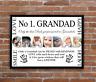 Personalised Grandads Grandad Pappa Photo Print - Father's Day Gift Grandkids