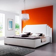 GHOST Polsterbett Kunstlederbett Bett Futonbett Designbett - 200 x 200 cm Weiß