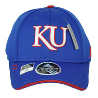 NCAA Adidas Kansas Jayhawks M063Z Flex Fit Small Medium Hat Cap Blue Stretch