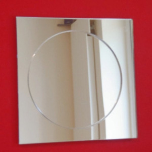 Circle & Square Mirrors (Shatterproof Safety Acrylic mirrors, Several Sizes)