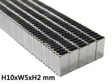 50pcs N38 Super Strong Block Fridge Magnets Rare Earth Neodymium 10x5x2mm