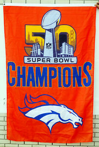 Denver Broncos nfl Super Bowl 50 Champions vertical 3' x 5' Flag US Shipper