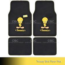 Tweety Bird Carpet Floor Mats for Car SUV 4 pc Looney Tunes Full Set All Weather