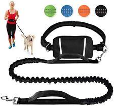 Hands Free Retractable Dog Leash with Adjustable Waist Belt & Dual Handle
