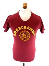 ABERCROMBIE & FITCH Mens T-Shirt Top S Small Burgundy Cotton