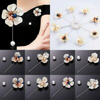 Charm Flower Pearl Crystal Pin Brooch Shawl Women Wedding Party Jewelry Gift Hot