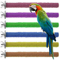 40cm Colorful Pet Bird Cage Perches Stand Platform Paw Grinding Clean Chew Toys
