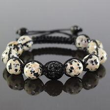 Femmes Dalmatiens Lapis Shamballa Bracelet Noir Zircon pour Femmes Réglable