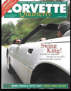 Corvette Quarterly Summ. 1996 Tracking Original Parts Indy Bobby Rahal Bob Clift