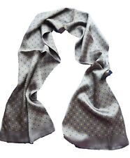 Men's 100%Mulberry silk Double sided  long Scarf Elegan Printing  Smooth 3color