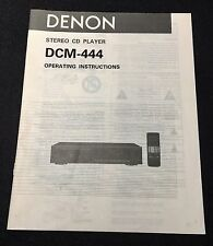 Denon DCM-444 CD Player Original Owners Manual 14 English Pages