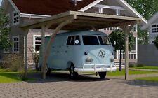 Weka Flachdachcarports Einzelcarport 606 A Gr.1 mit Rundbogen 268x389 cm