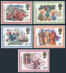 Great Britain 1006-1010, MNH. Michel 933-937. Christmas 1982. Carols. Ship.