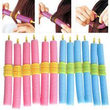 24X Magic Sponge Foam Rollers Hair Styling Rollers Curlers Tools Blue&Pink
