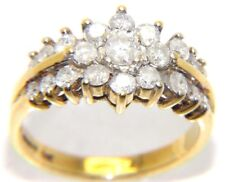 Ladies/womens 18ct 18carat gold ring set with a plethora of diamonds, UK size L