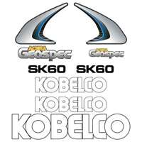 Kobelco SK60 Decals Stickers New Repro Decal Kit