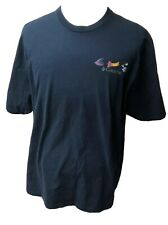 Columbia Mens 2XL Fly Fishing Lure T-Shirt Dark Blue Crew Neck
