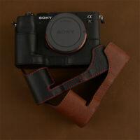 Genuine Leather Half Case For Sony A7C Camera Retro Cover Insert Handmade Case