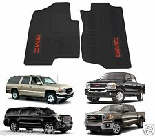 Genuine GM 12499644 Floor Mats Front Premium All Weather Ebony w/ Red GMC Logo